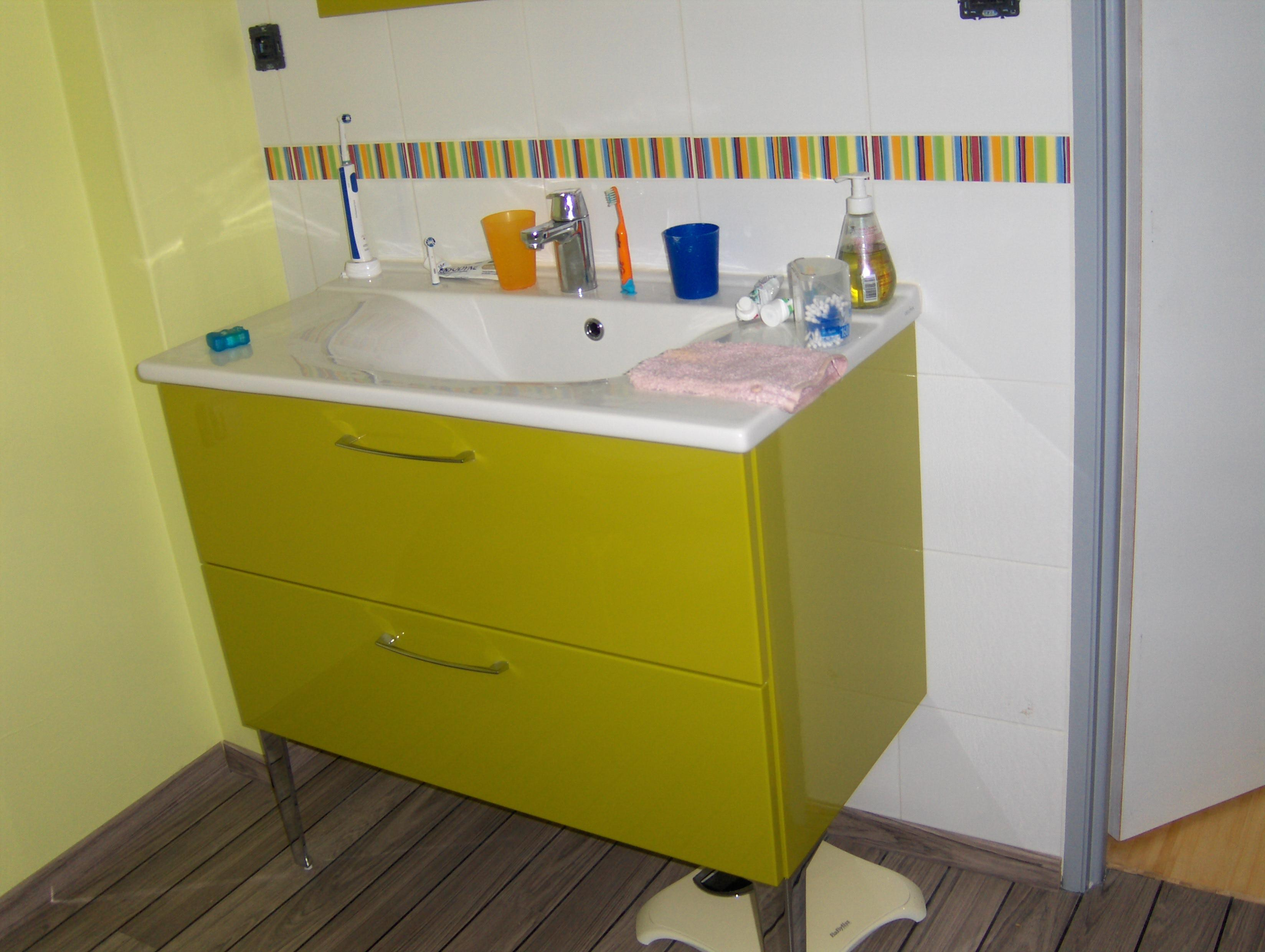 Meuble salle de bain ikea occasion for Salle de bain vert d eau